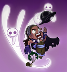 chibi Usopp and Perona's ghosts (One Piece fanart) by MajorasMasks