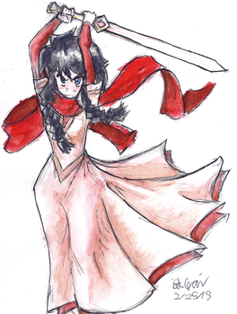 2015-02-25 Madeline watercolor by Zanza47