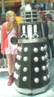 Little Amelia Pond and a Dalek from Doctor Who by trivto