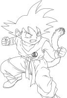 Young Goku Lineart by RuokDbz98
