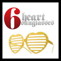 Heart SunGlasses PNG's by funkyfreshfab