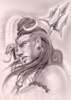Shiva Sketch by ketology
