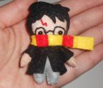 Tiny Harry Potter Felt Ornament by kiddomerriweather
