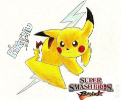 SSBB Pikachu by darknight0x0