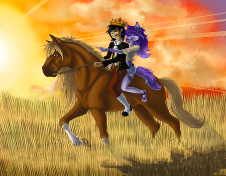 Riding into the Sunset by Starlight14GER