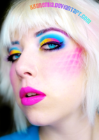rainbow makeup by XXAnemia