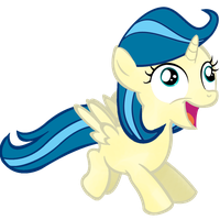 Happy derp filly - Tina fountain heart by mirry92