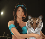 Jasmine and Rajah [WIP] by Vlossy