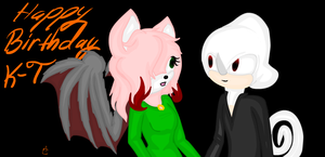 Bat and Albino Boy! :Gift: by ChaosBoundJenna