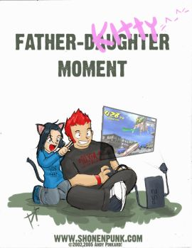 father daughter moment colored by pinkard