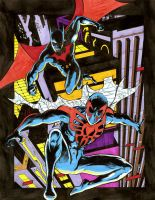 Batman Beyond and Spiderman 2099 Again! by dannphillips