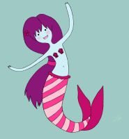 Persimminny the Mermaid by Flower-For-A-Ghost