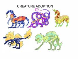 creature Adoption! :D by LaBellaPelliccia