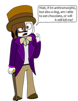 Harvey and the chocolate factory by Cjrocker