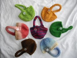 Lot of Seven Bunny Baskets by holls