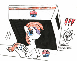 InkTober-day26-BOX-Muffin Eater Been Spotted! by bassmegapokemonlover