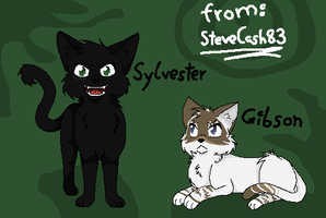 Sylvester and Gibson by BlackclawWarrior