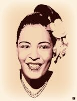 Billie Holiday II by monsteroftheid
