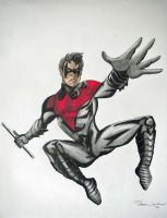 Nightwing New 52 Drawing by cusT0M