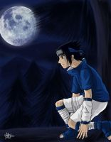 Uchiha Sasuke: cold night by himiko