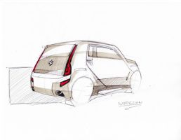 City car VW back view1 by SCADBEEZIE