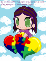 Me and Autism Awareness Hearts by Kuruizaki-Wolf