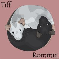 Tiff and Rommie by wolfysilver