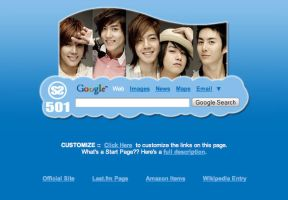 SS501 Startpage by AwesomeStart