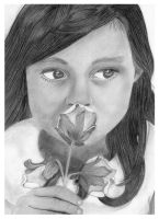 Girl With Flower by Rifty