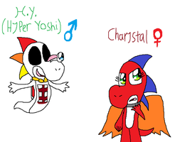 Yoshi Test Subjects by CharmeleonGirl46