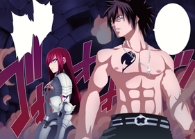 Erza and Gray - Collab by WendyTsq