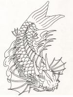 Koi Dragon Design. by Heavy-metal-ink