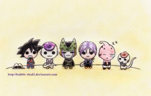 DBZ - Chibis by Bubble-Chubi