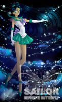 Sailor Nephrite Butterfly by lady-narven