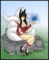Ahri The Nine- Tailed Fox by shekony