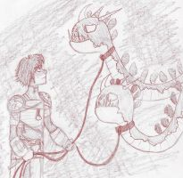 Hiccup and The Zippleback by LookingForLoo