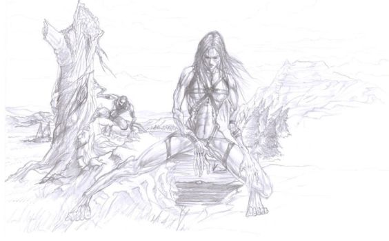 Forkrul Assail: sketch by Shadaan