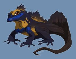 Sailfin Lizard by Versiris