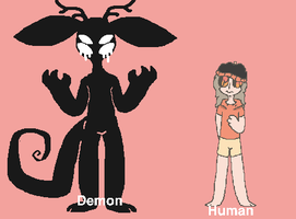 Human and demon form by MountWhitney