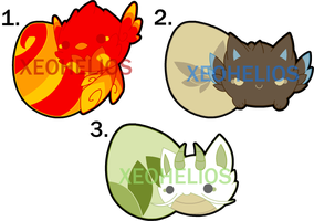 Monster Hatchling Adoptables Set 4: CLOSED by Xeohelios