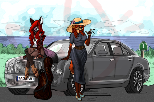 Fox People Driving Around In Cars by AgentMoore