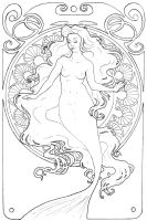 Mucha Mermaid 2 by chostopher