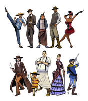 Wild West Characters by PrinceBrian