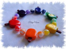 NEW Rainbow Popsicle Bracelet by Cateaclysmic