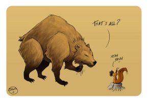 bully bear by Entropician