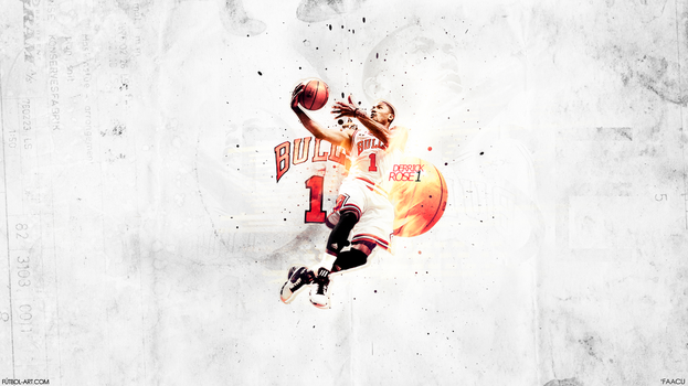 Derrick Rose - Basketball by faacu14