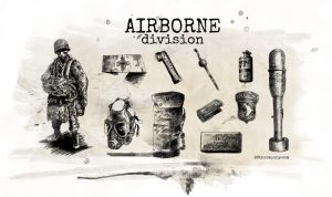 WWII Airborne Tools Wallpaper 2500x1440 by angelsd