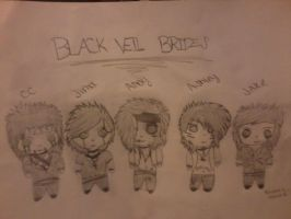 Black Veil Brides Chibis! :3 by Kristin-BVB-Fan