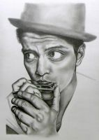 Bruno Mars WIP2 by EmilyHitchcock