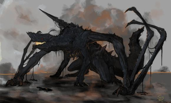 Gogmazios, the Giant Halberd Dragon by Halycon450